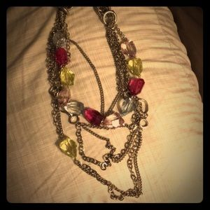 Jewelry - Chunky Silver and Multi-Color Necklace